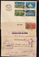 3 INDIA / BURMA RARE POST CARDS, 1955 YEAR