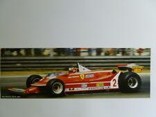 1980 Ferrari 312 T5 Giles Villeneuve Formula 1 Race Car Print Picture Poster
