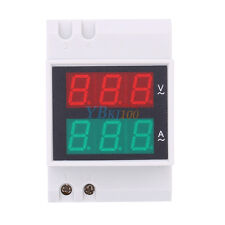 AC200-450V Digital Din Rail LED Display Voltage Ammeter Voltmeter Current Meter