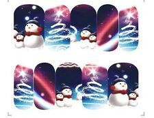 Nail Art Design Unghie Acqua Transfer Unghia Sticker Full Cover Natale A-1142