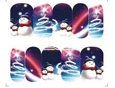Nail Art Design Unghie Acqua Transfer Unghia Sticker Full Cover Natale A-1142