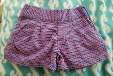 Janie And Jack Girl Navy Blue Red Shorts, Size 6 Summer