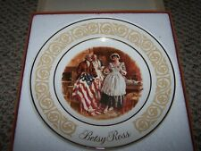 Set of 2 Collectible Avon Betsy Ross And Freedom Patriotic Plates, 1973, 1974