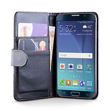 Samsung Galaxy Note 5 PU Leather Black Wallet Case Cover + Screen Protector
