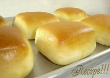 "☆""RECIPE""☆Sweet Yeast Rolls☆PLUS Cinnamon Butter & Fresh Orange Honey Butter☆"
