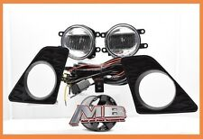 13-15 LEXUS GS350 F-SPORT BUMPER LED FOG LIGHTS LAMPS KIT CHROME W/BEZEL+HARNESS
