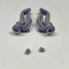 Resin Set Turbo Headers Manifold Engine Swap For Any Kit 1/24 1/25