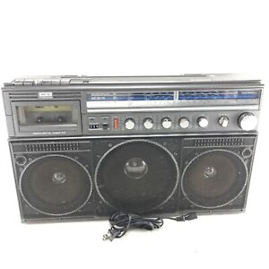 Magnavox Ghettoblaster Boombox Vintage - Model D8443 - Tested Clean Works - R02