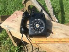 Vintage Black Rotary Telephone , Tabletop Phone ,