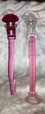 Vintage Mam Mini Ulti Pacifier Clips/Holders-Clear/Raspberry Colored!!!