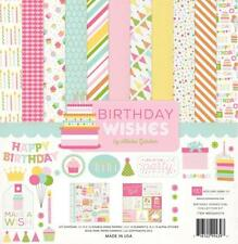 BIRTHDAY WISHES Girl Collection Kit Echo Park 12x12 Scrapbook Party Planner fs