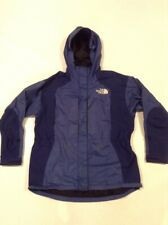 The North Face Vintage Women's Gore-Tex Parka Shell Jacket Sz L Blue Hooded