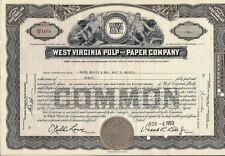 Stock certificate West Virginia & Paper Company Less Than 100 Shares 1950s
