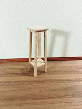 Dollhouse Miniature Unfinished Tall Fern or Plant Stand 1:12 Scale Furniture
