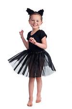 Super Halloween Chat Noir Enfant Robe dessus Ensemble et Fourrure Oreilles Tutu