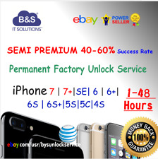 SEMI PREMIUM FACTORY UNLOCK SERVICE AT&T IPHONE X 8 7 6S 6 Plus 5 4 ATT Contract