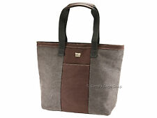 Troop London Ladies Canvas Shoulder Shopper Tote Bag Handbag In Black - TRP0368