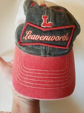 Vintage Snap Back Hat Mesh Leavenworth Patch Embroidery Cap Legacy Trucker