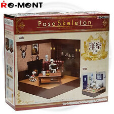 Re-Ment Pose Skeleton - Western-style Room Set ( Skeletal Figure Not Included )