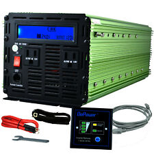 EDECOA 3000W 6000W dc 24V to ac 110 120V car automotive Power Inverter LCD