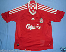Liverpool FC / 2008-2010 Home - ADIDAS - JUNIOR Shirt / Jersey. Size: 10y, 140cm