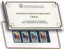 folder postale anno santo 1983 emissione celebrativa serie 4 francobolli