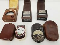JOBLOT OF ANTIQUE LIGHT METERS - BLENDUX, TEMPIPHOT, HORVEX 3, SIXTUS **PARTS/RE