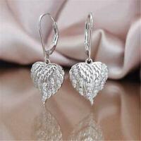 Fashion 925 Silver Dangle Drop Earrings for Women White Sapphire Wedding Jewelry