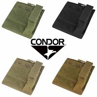 Condor MA30 Tactical Molle Admin Pouch Hook & Loop w/ Flashlight Panel Holder