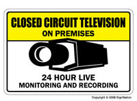 VIDEO SURVEILLANCE CCTV ~1 Sign ~ closed circuit camera