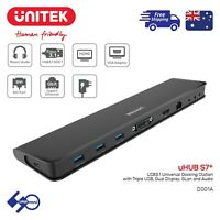 Laptop USB3.0 USBC Docking Station HDMI/DVI/VGA/LAN/Audio support Windows/OS Hub