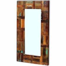 vidaXL Recycled Timber Frame Wall Mirror Makeup Hall Bathroom 50x80cm Antique