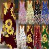 Women Ladies Sleeveless Clubwear Party  Long Maxi Dress Holiday Beach Sundress