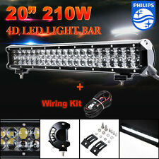 210W 20inch Philips LED Work Light Bar Flood/Spot Combo Offroad ATV 4WD UTE 23""