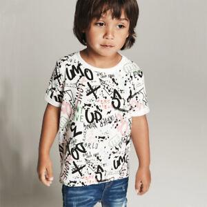NAME IT cooles Graffiti T- Shirt Jungen kurzarm Print Klein Kinder Kids Top