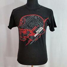 Metal Mulisha Mens Med Motocross Racing Black Red Helmet T Shirt Tee