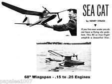 "Model Airplane Plans (FF or RC): SEA CAT 68""ws Amphibian .15-.25 by Henry Struck"