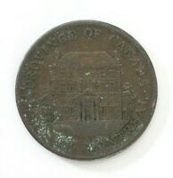 1842 Bank of Montreal Province of Canada HALF PENNY Bank Token/Coin