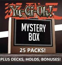 Yu-Gi-Oh TCG Mystery Box 25 Random SEALED PACKS plus DECKS, HOLOS, and BONUSES!!