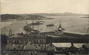 Russia, Vladivostok, Harbour View with Ships, Old Photo Postcard