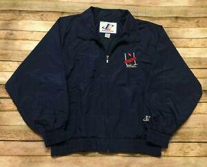 Arena Football Vtg 80s RARE Jacket Windbreaker Logo Athletic Sewn AFL Blue Large