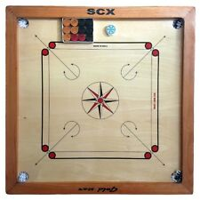 HAPPY NEW YEAR CARROM BOARD GAME GOLD STAR FULL SIZE W/FREE WOOD COINS + STRIKER