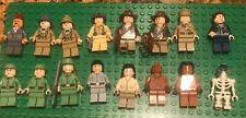 LEGO Indiana Jones Minifigures Lot,The Last Crusade Kingdom Of Skull 16 Figures