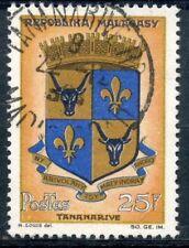 TIMBRE DE MADAGASCAR N°392 OBLITERE BLASON DE TANANARIVE