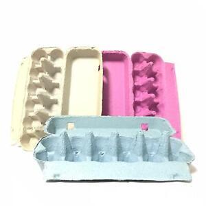 50 X Brand New Natural/Rustic 12 Slots Biodegradable Eco Color Egg Carton Tray