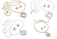 Necklace Earring Set. Ladies Costume Jewellery. Gold/Silver Colour Necklace Stud