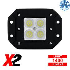 """4 High Power LED """"X2"""" Spot Light - Flush Mount, 1400 Lumens LED, IP68, Each"""