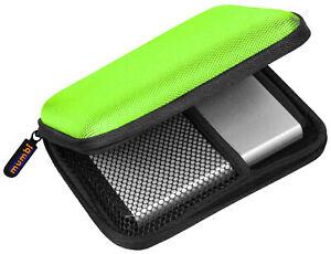 mumbi externe Festplattentasche 2,5 Zoll Tasche für Festplatten Hülle Case grün