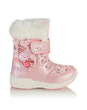 BRAND NEW George PEPPA PIG SNOW BOOTS Boots  BNWT Sz 9 27  Cold