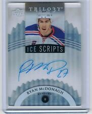 2015-16 Upper Deck Trilogy Ice Scripts RYAN MCDONAGH IS-RM Auto
